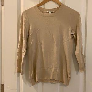Cream banana republic xs 3/4 sweater